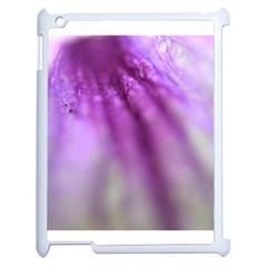 Purple Flower Pedal Apple Ipad 2 Case (white) by timelessartoncanvas