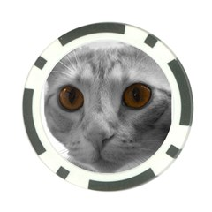Funny Cat Poker Chip Card Guards by timelessartoncanvas