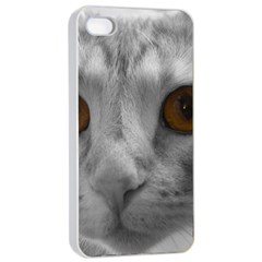 Funny Cat Apple Iphone 4/4s Seamless Case (white) by timelessartoncanvas