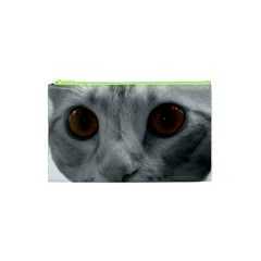 Funny Cat Cosmetic Bag (xs) by timelessartoncanvas