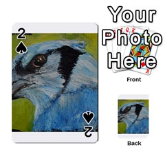 Blue Jay Playing Cards 54 Designs  by timelessartoncanvas