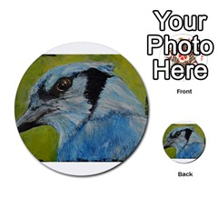 Blue Jay Multi Purpose Cards (round)  by timelessartoncanvas