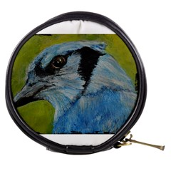 Blue Jay Mini Makeup Bags by timelessartoncanvas