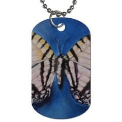 Butterfly Dog Tag (two Sides) by timelessartoncanvas