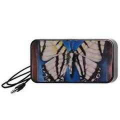 Butterfly Portable Speaker (black)  by timelessartoncanvas