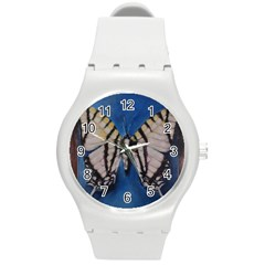 Butterfly Round Plastic Sport Watch (m) by timelessartoncanvas
