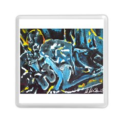 Man And Woman Memory Card Reader (square)  by timelessartoncanvas