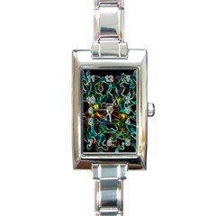 Soul Colour Rectangle Italian Charm Watches by InsanityExpressed