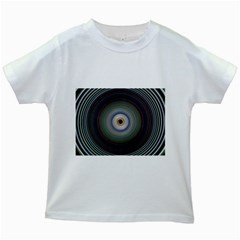 Colour Twirl Kids White T Shirts by InsanityExpressed