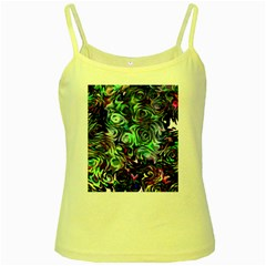 Colour Play Flowers Yellow Spaghetti Tanks by InsanityExpressed