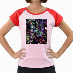 Colour Play Flowers Women s Cap Sleeve T Shirt by InsanityExpressed