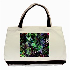Colour Play Flowers Basic Tote Bag  by InsanityExpressed
