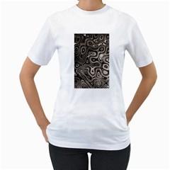 Tile Reflections Alien Skin Dark Women s T Shirt (white)  by InsanityExpressed