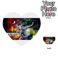 Abstract Music Painting Multi Purpose Cards (heart)  by timelessartoncanvas