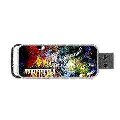 Abstract Music Painting Portable Usb Flash (two Sides) by timelessartoncanvas