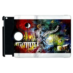 Abstract Music Painting Apple iPad 2 Flip 360 Case by timelessartoncanvas