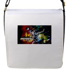 Abstract Music Painting Flap Messenger Bag (s) by timelessartoncanvas