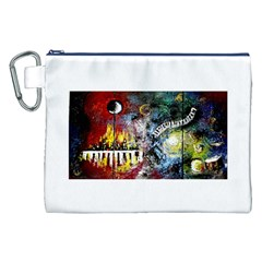 Abstract Music Painting Canvas Cosmetic Bag (xxl)  by timelessartoncanvas
