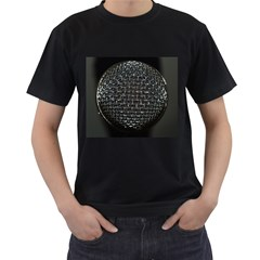 Modern Microphone Men s T Shirt (black) (two Sided) by timelessartoncanvas