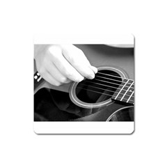 Guitar Player Square Magnet by timelessartoncanvas