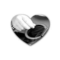 Guitar Player Heart Coaster (4 pack)  by timelessartoncanvas