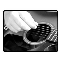 Guitar Player Double Sided Fleece Blanket (small)