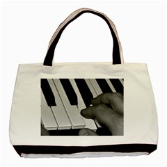 The Piano Player Basic Tote Bag (two Sides)  by timelessartoncanvas