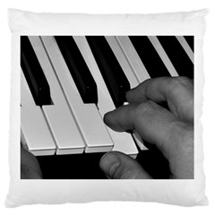 The Piano Player Large Cushion Cases (one Side)  by timelessartoncanvas