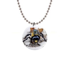 Bumble Bee 2 Button Necklaces by timelessartoncanvas