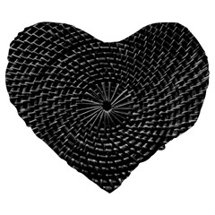 Spinning Out Of Control Large 19  Premium Heart Shape Cushions by timelessartoncanvas