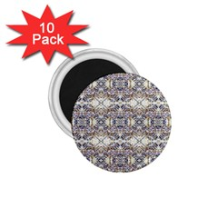 Oriental Geometric Floral Print 1 75  Magnets (10 Pack)  by dflcprints