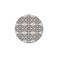 Oriental Geometric Floral Print Golf Ball Marker (4 Pack) by dflcprints
