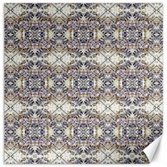Oriental Geometric Floral Print Canvas 16  X 16   by dflcprints