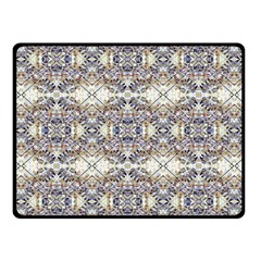 Oriental Geometric Floral Print Double Sided Fleece Blanket (Small)  by dflcprints