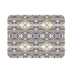 Oriental Geometric Floral Print Double Sided Flano Blanket (mini)  by dflcprints