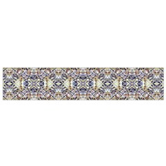 Oriental Geometric Floral Print Flano Scarf (small)  by dflcprints