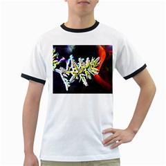 Digitally Enhanced Flower Ringer T Shirts