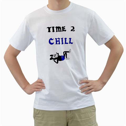 Time 2 Chill By Autumn Raine Lecuyer   Men s T Shirt (white)    Pygdu7x9922h   Www Artscow Com Front