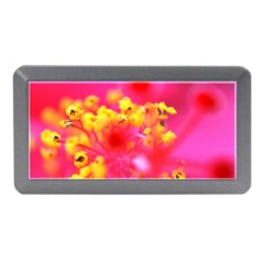 Bright Pink Hibiscus Memory Card Reader (mini) by timelessartoncanvas