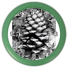 Pinecone Spiral Color Wall Clocks by timelessartoncanvas
