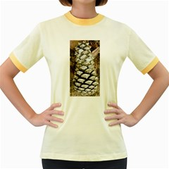 Pincone Spiral #2 Women s Fitted Ringer T-Shirts by timelessartoncanvas