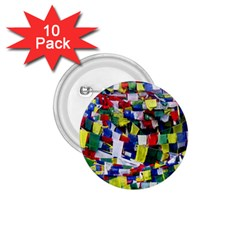 Tibetan Buddhist Prayer Flags 1 75  Buttons (10 Pack) by CrypticFragmentsColors