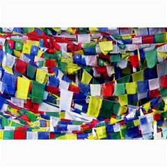 Tibetan Buddhist Prayer Flags Collage 12  X 18  by CrypticFragmentsColors