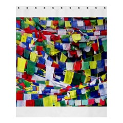 Tibetan Buddhist Prayer Flags Shower Curtain 60  X 72  (medium)  by CrypticFragmentsColors