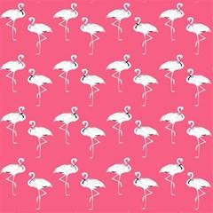 Flamingo White On Pink Pattern Magic Photo Cubes
