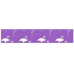 Flamingo White On Lavender Pattern Flano Scarf (large)  by CrypticFragmentsColors