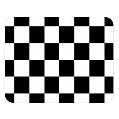 Checkered Flag Race Winner Mosaic Tile Pattern Double Sided Flano Blanket (large)  by CrypticFragmentsColors