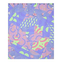 Girls Bright Pastel Abstract Blue Pink Green Shower Curtain 60  X 72  (medium) by CrypticFragmentsColors