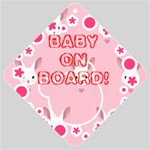 BUNNY BABY ON BOARD CAR SIGN - Car Window Sign