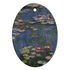Claude Monet   Water Lilies Ornament (oval)  by ArtMuseum